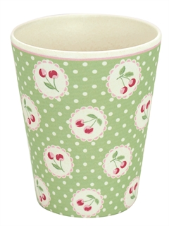 Bamboo cup Cherry berry p.green