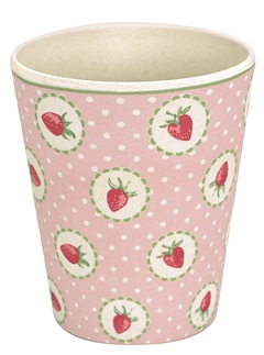 Bamboo cup Strawberry pale pink