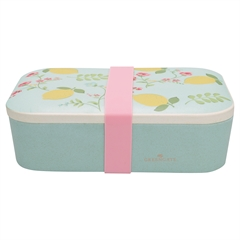 Bamboo lunch box Limona pale blue