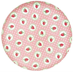 Bamboo plate Strawberry pale pink - dia. 20 cm