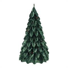 Candle christmas tree dark green large