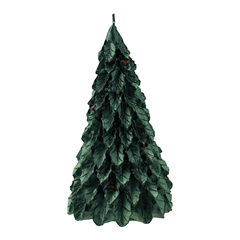 Candle christmas tree dark green small