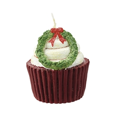 Candle cupcake brown