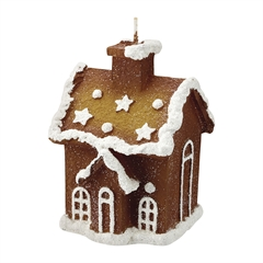 Candle Gingerbread house creme