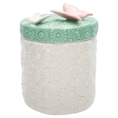 Storage jar Butterfly pale pink