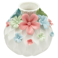 Vase Daisy multicolor round large