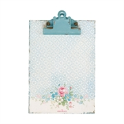 Notepad Clipboard GreenGate Marie pale blue