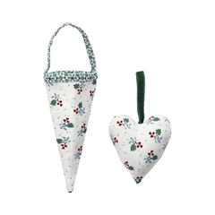 Cornet Joselyn green set of 2 assorted
