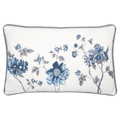 Cushion Charlotte white pieceprinted 30x50cm