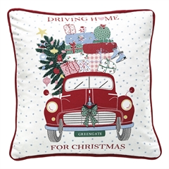 Cushion Christmas Car red pieceprinted 40x40cm