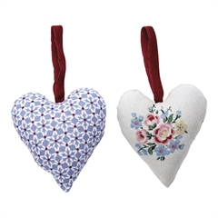 Heart Juno dusty blue set of 2 assorted