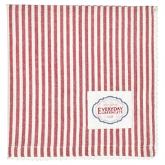 Napkin w/lace Alice stripe red