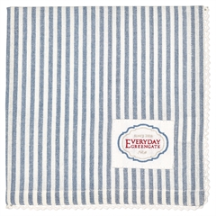 Napkin w/lace Alice stripe blue