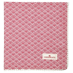Napkin with lace Nancy red