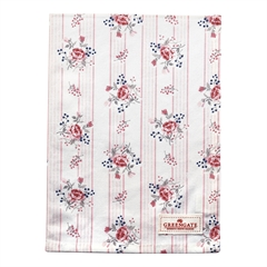 Tea towel Fiona pale pink