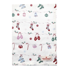 Tea towel Jingle bell white