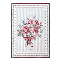 Tea towel Elisabeth white pieceprinted