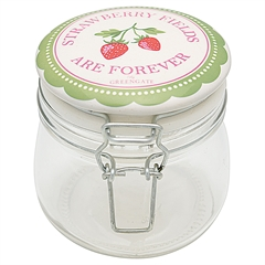 Storage jar Strawberry pale green 0,5L