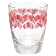 GreenGate vandglas Heart red