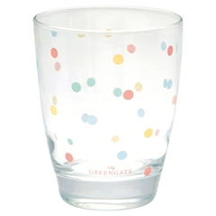 Vandglas Multi dots white