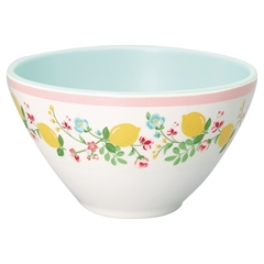 Melamin cereal Bowl Limona white