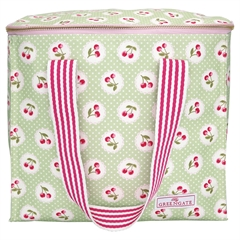 Cooler bag two handles Cherry berry p. green