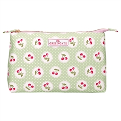 Cosmetic bag Cherry berry p. green large