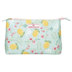 Cosmetic bag Limona pale blue large