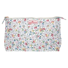 Cosmetic bag Vivianne white large