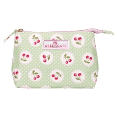 Cosmetic bag Cherry berry p. green small