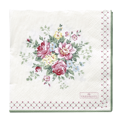 Napkin Aurelia white large 20pcs