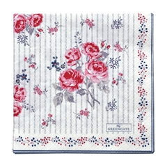 Napkin Elisabeth white large 20pcs