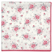 Papirservietter GreenGate Flora white large