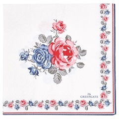 Paper napkin Hailey white large 20pcs