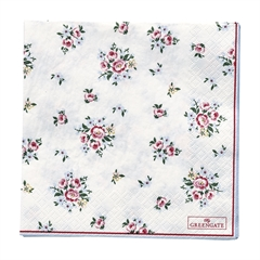 Napkin Nicoline white large 20pcs