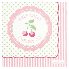 Paper napkin Cherry berry p.green small 20pcs