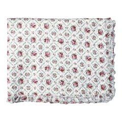 Bed cover Malene petit white w/frill 180x230cm
