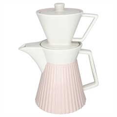 Coffee pot w/filter Alice pale pink