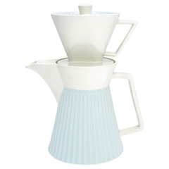 Kaffekande m. filter Greengate Alice pale blue