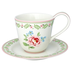 Cup & saucer Lily petit white
