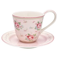 Cup & saucer Marley pale pink