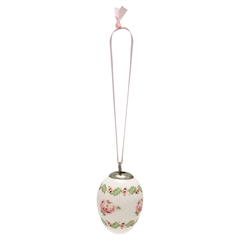 Decorative egg Lily petit white set of 2 ass hang