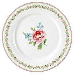 Dinner plate Lily petit white