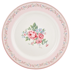 Dinner plate Marley pale pink