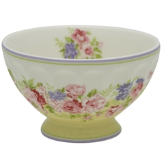 French bowl medium Rose pale yellow