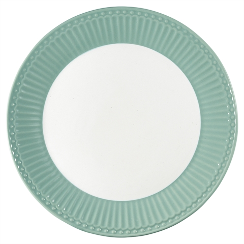 Plate Alice dusty mint