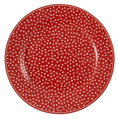 Plate Dot red