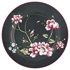Plate Penelope dark grey