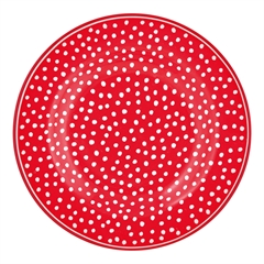 Small plate Dot red
