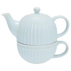 Tea-for-one Greengate Alice pale blue